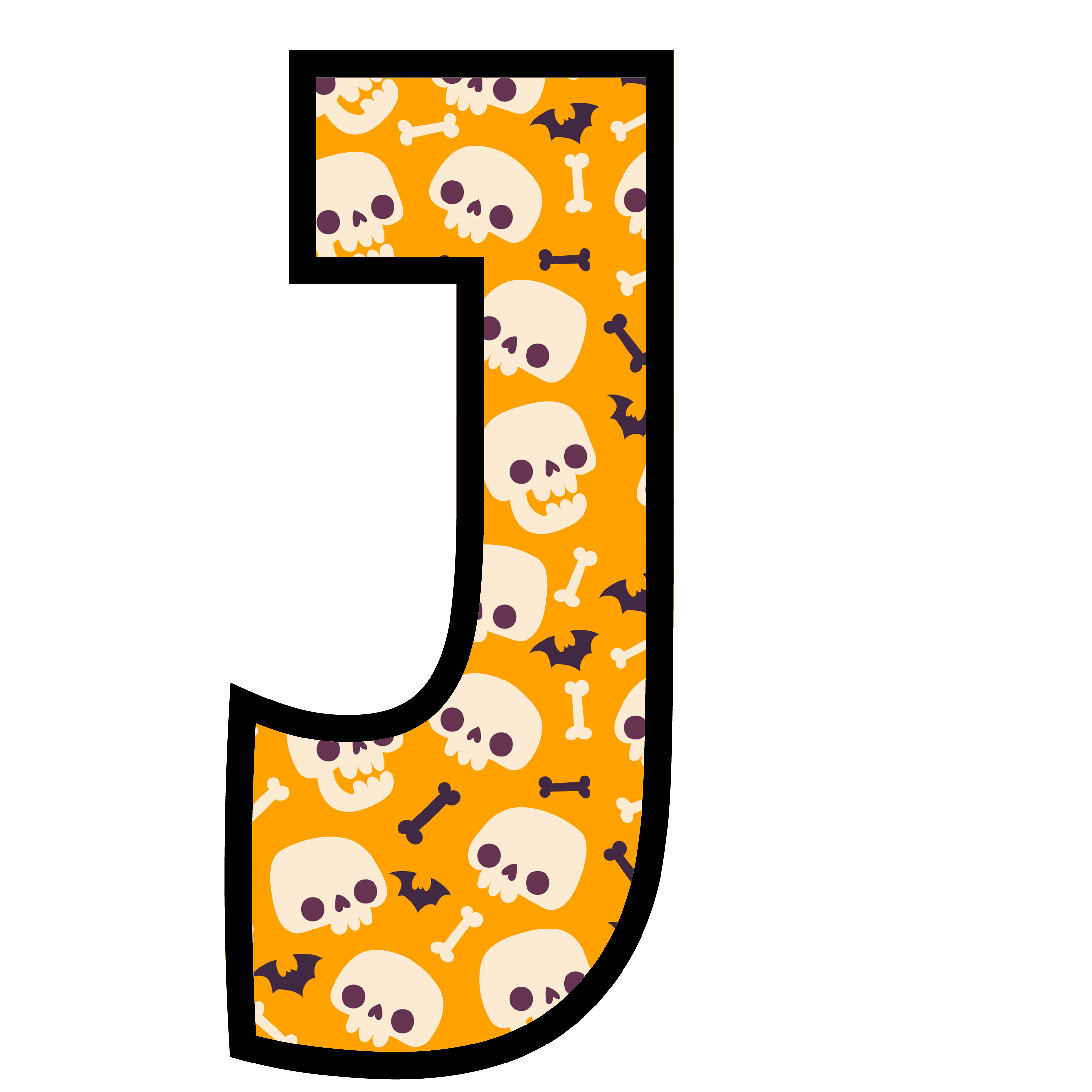 alfabeto personalizado caveiras halloween 10