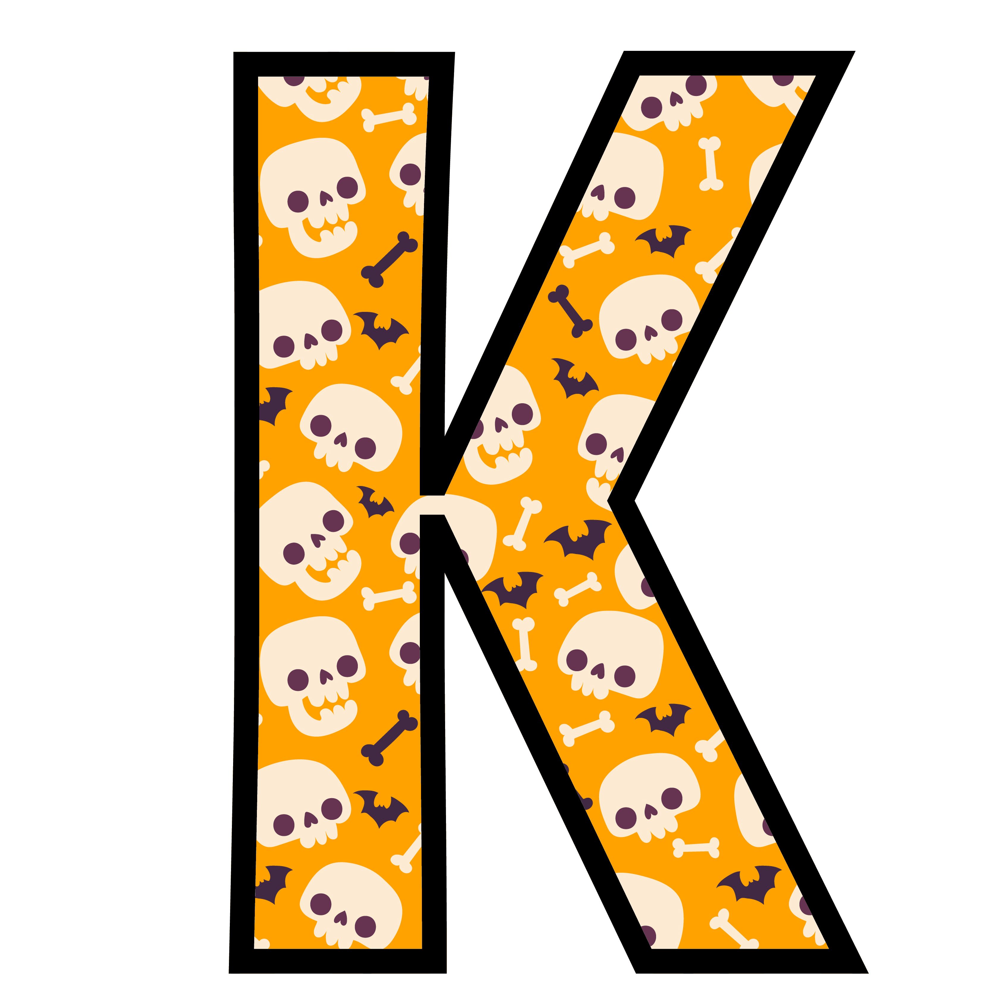 alfabeto personalizado caveiras halloween 11