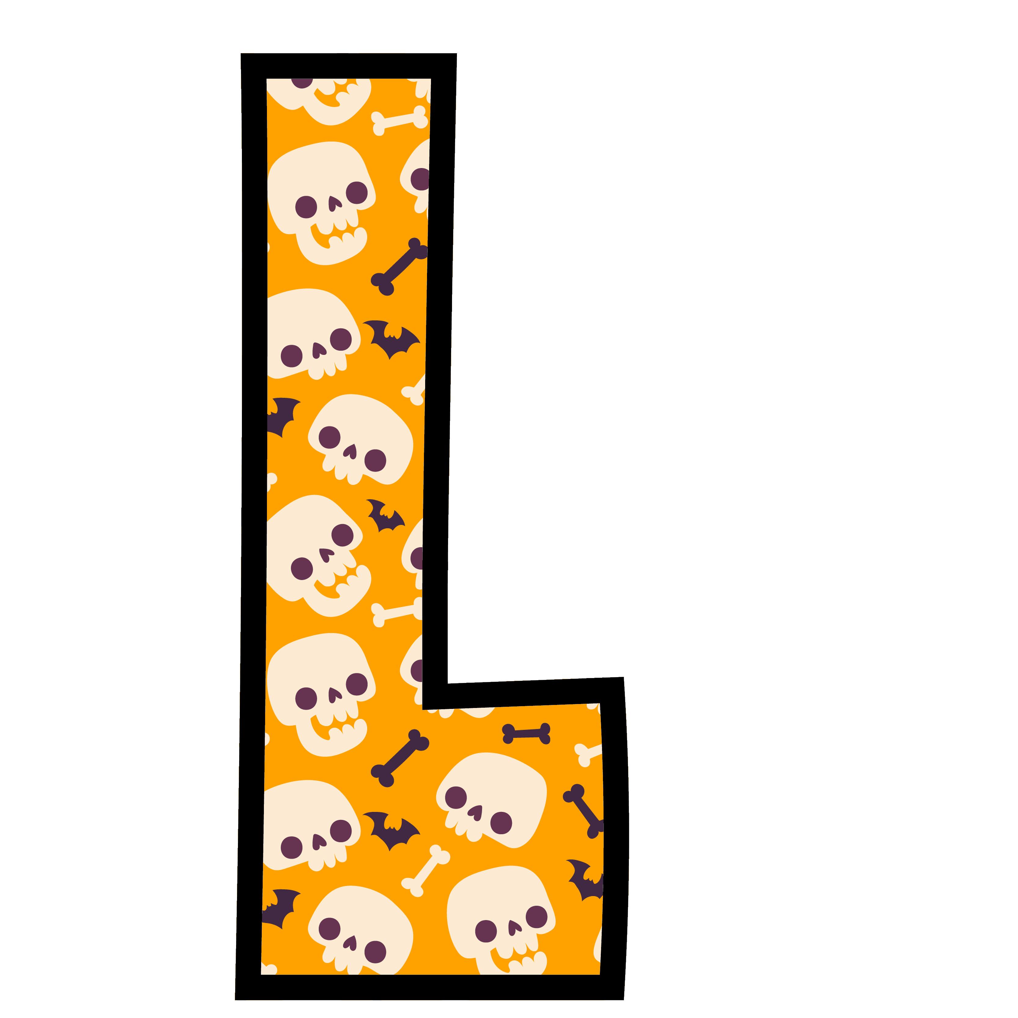 alfabeto personalizado caveiras halloween 12