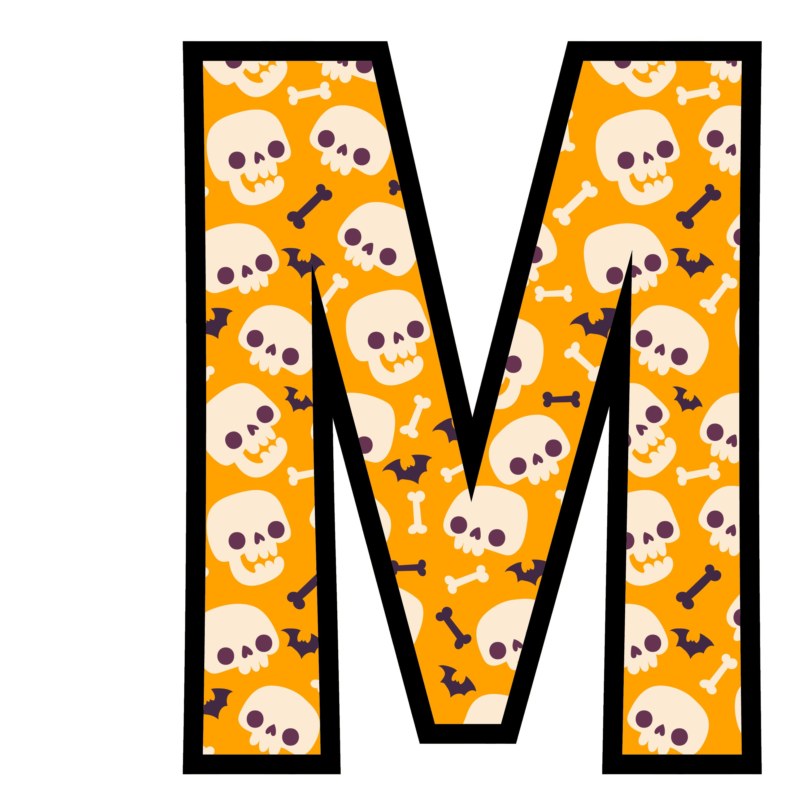 alfabeto personalizado caveiras halloween 13