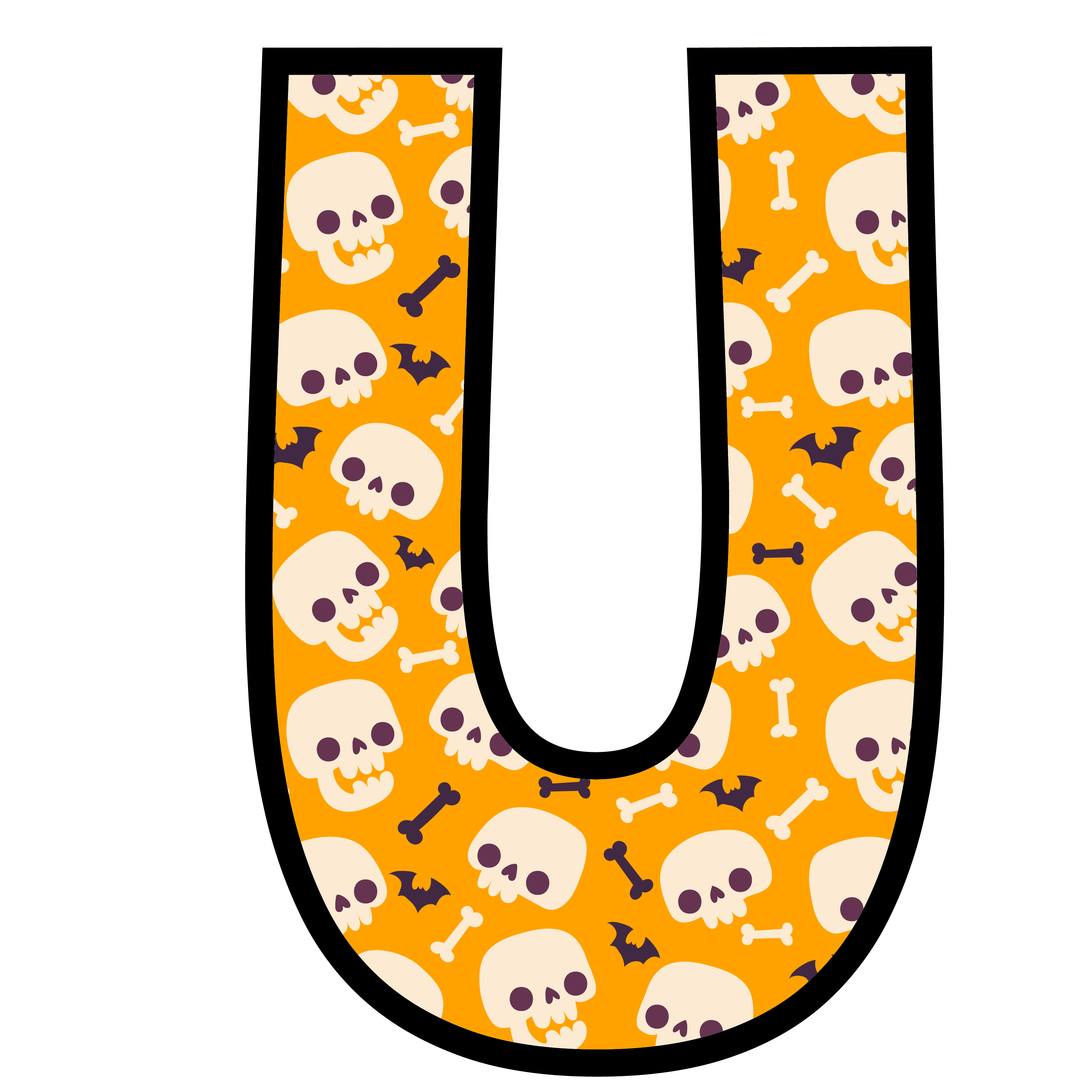 alfabeto personalizado caveiras halloween 21