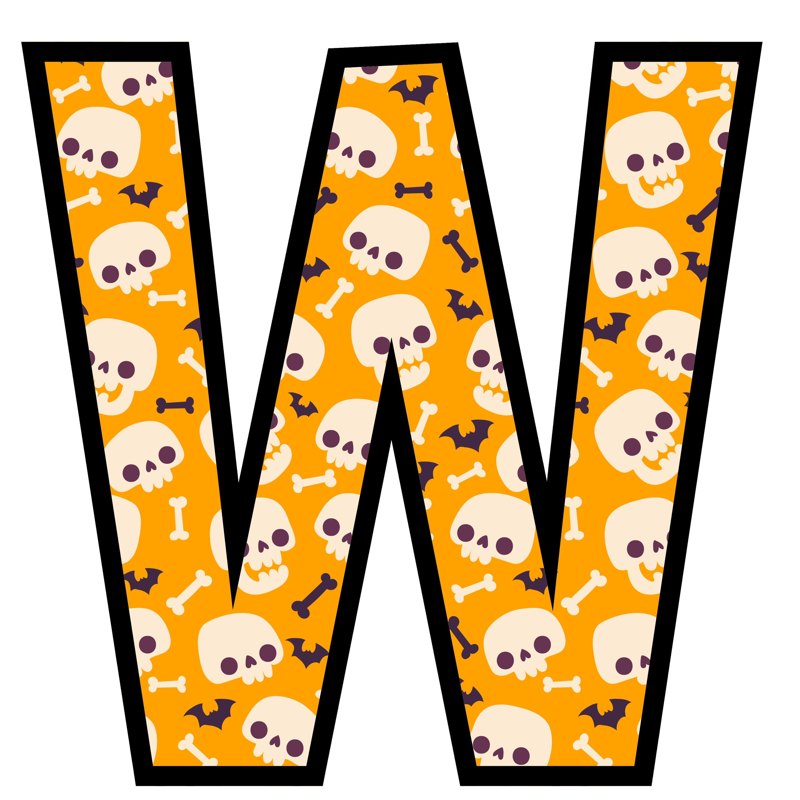 alfabeto personalizado caveiras halloween 23