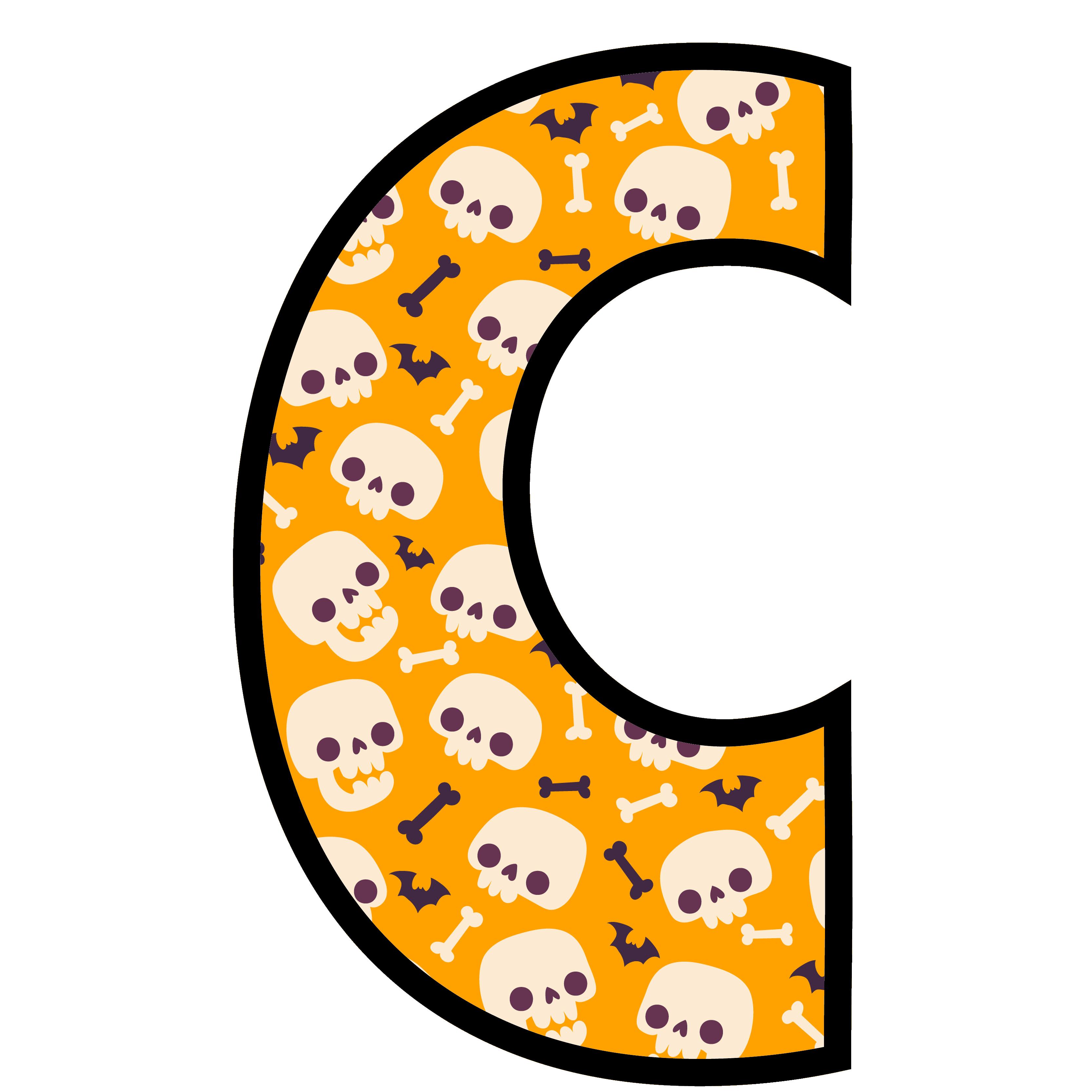 alfabeto personalizado caveiras halloween 3