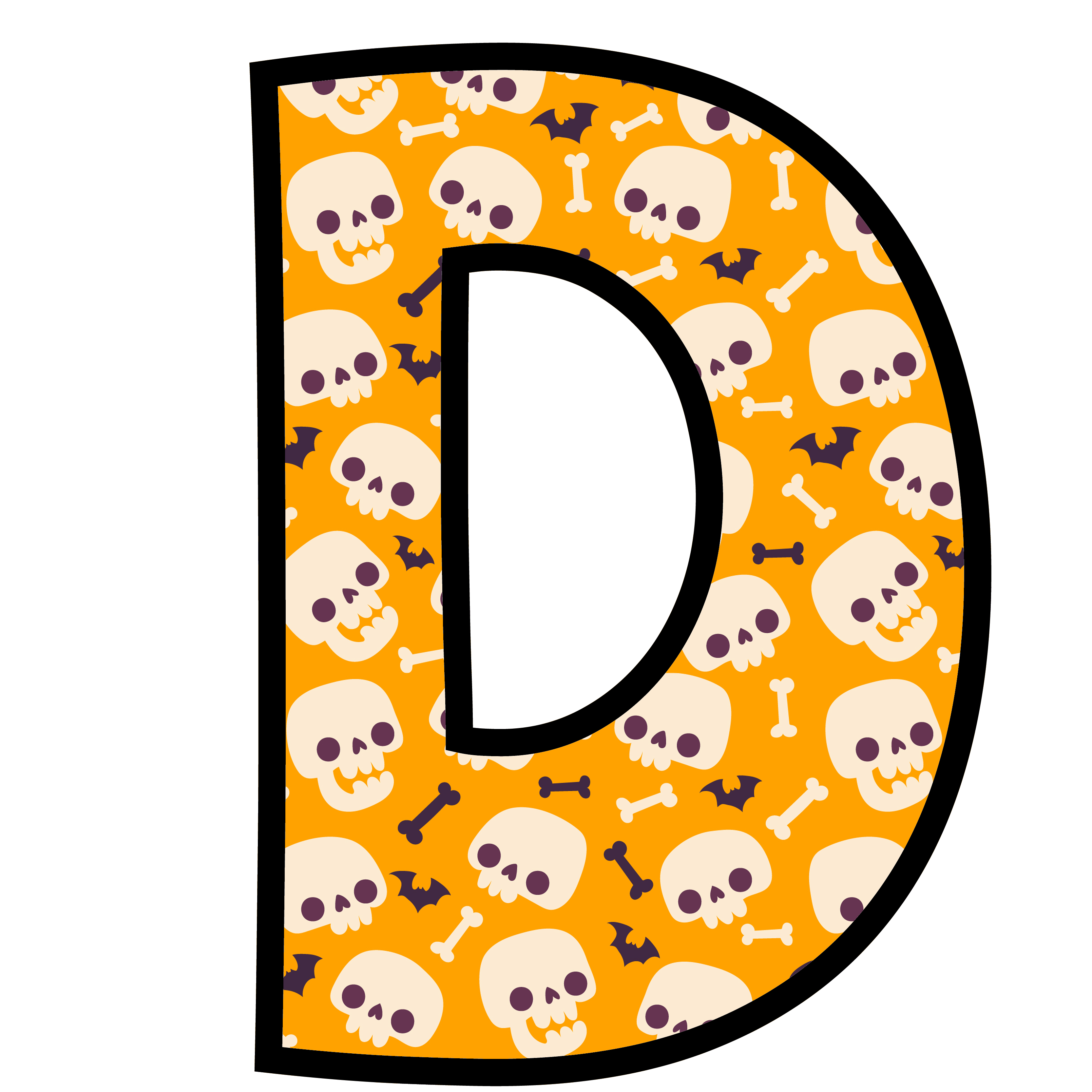 alfabeto personalizado caveiras halloween 4