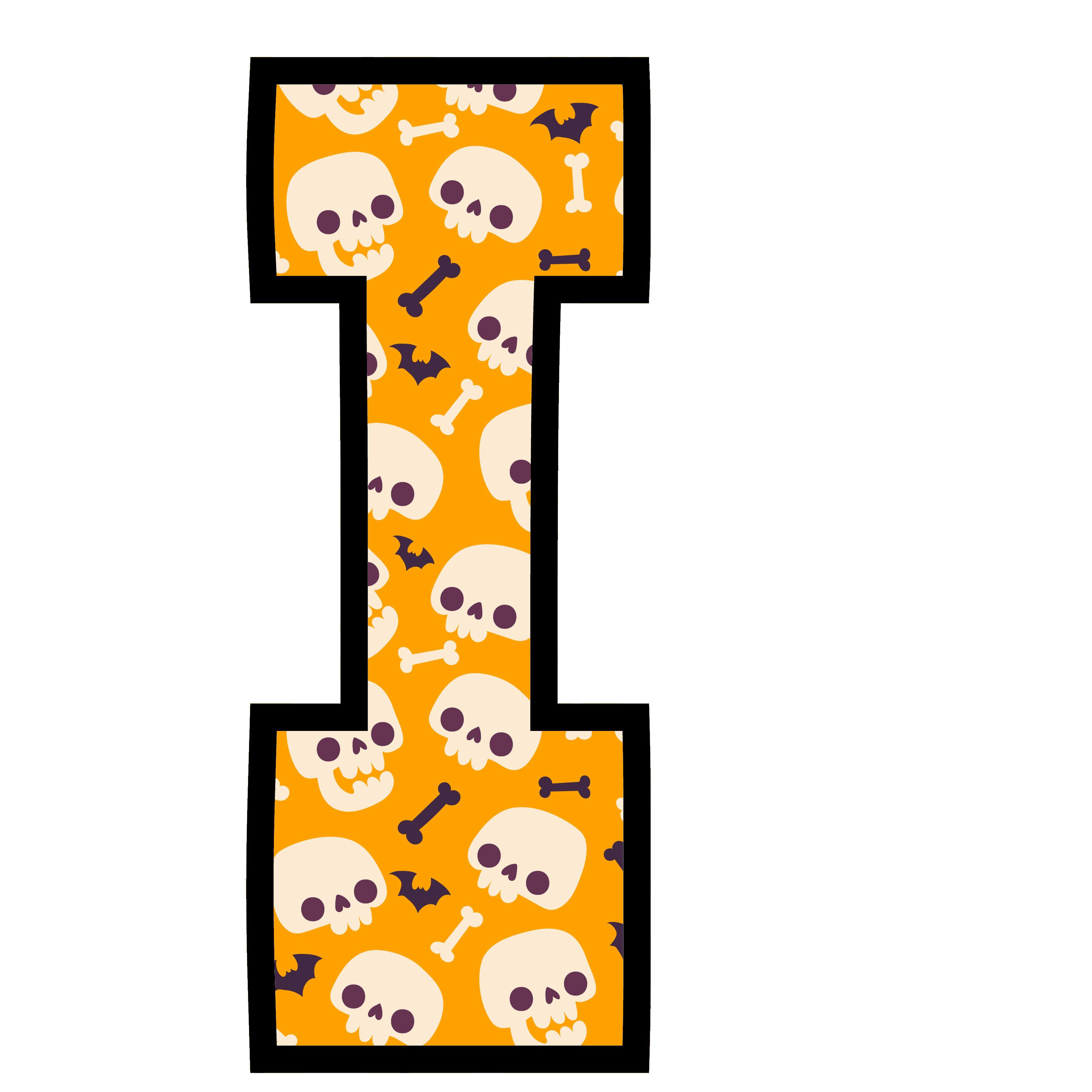 alfabeto personalizado caveiras halloween 9