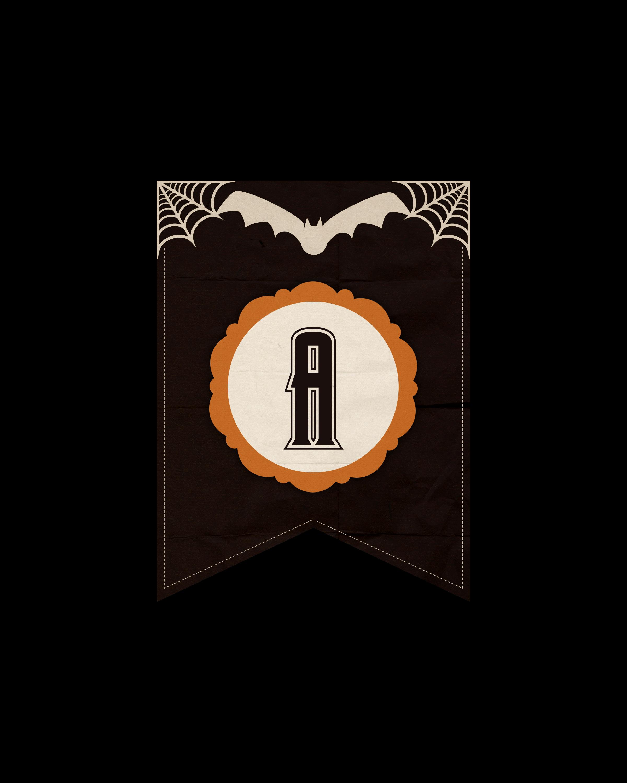 alfabeto personalizado dark halloween 1