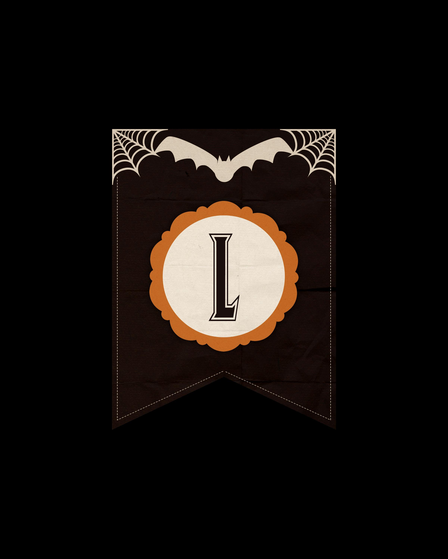 alfabeto personalizado dark halloween 12