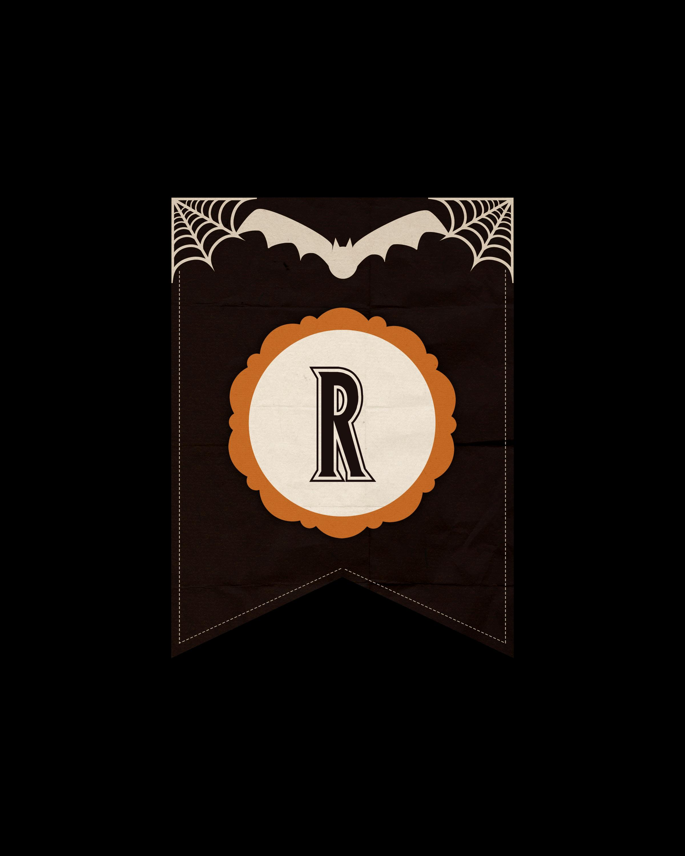 alfabeto personalizado dark halloween 18
