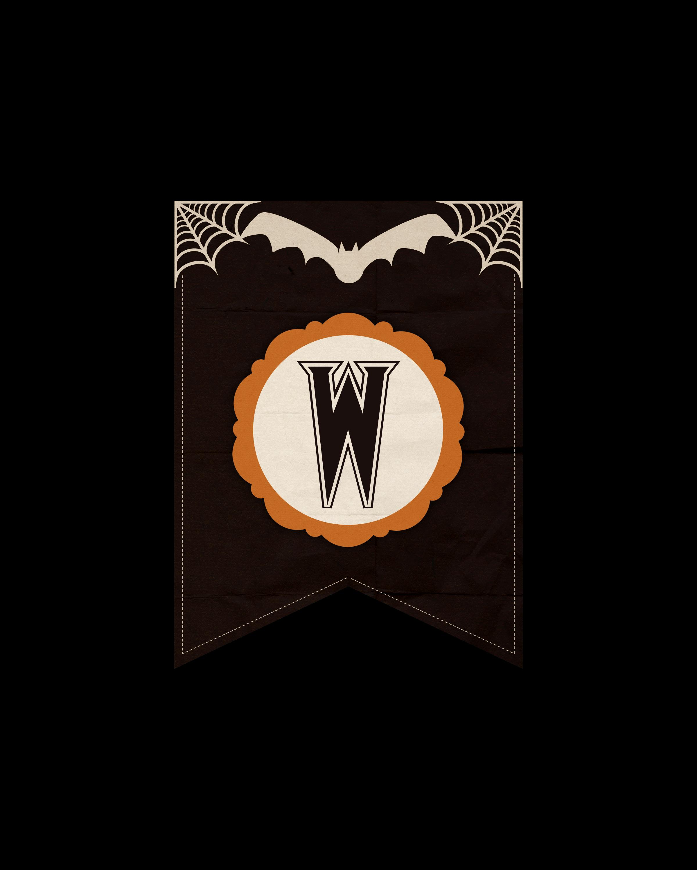 alfabeto personalizado dark halloween 23