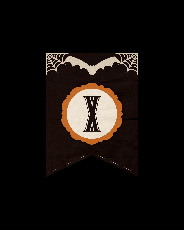 alfabeto personalizado dark halloween 24