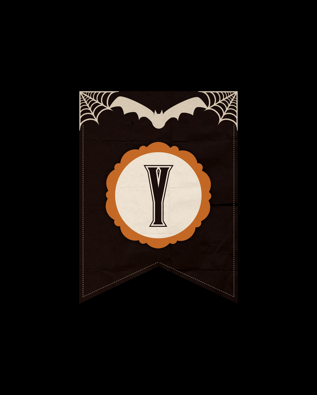 alfabeto personalizado dark halloween 25