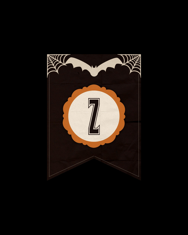 alfabeto personalizado dark halloween 26