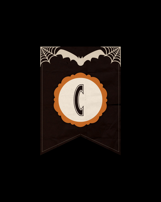 alfabeto personalizado dark halloween 3
