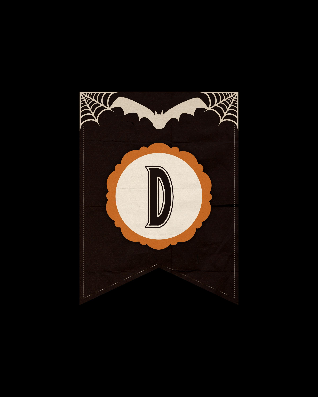 alfabeto personalizado dark halloween 4