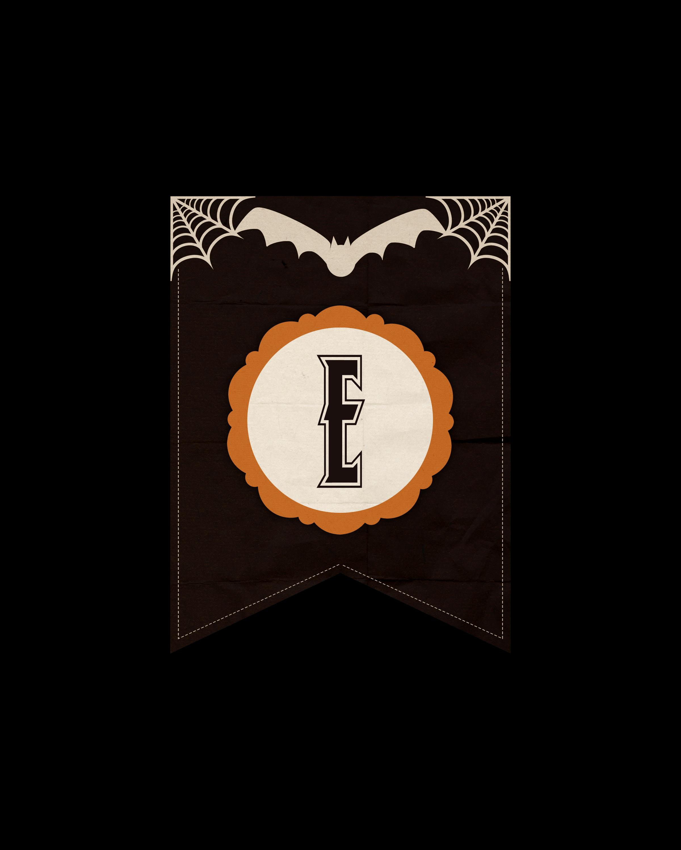 alfabeto personalizado dark halloween 5