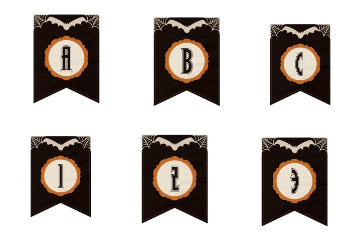 alfabeto personalizado dark halloween para imprimir