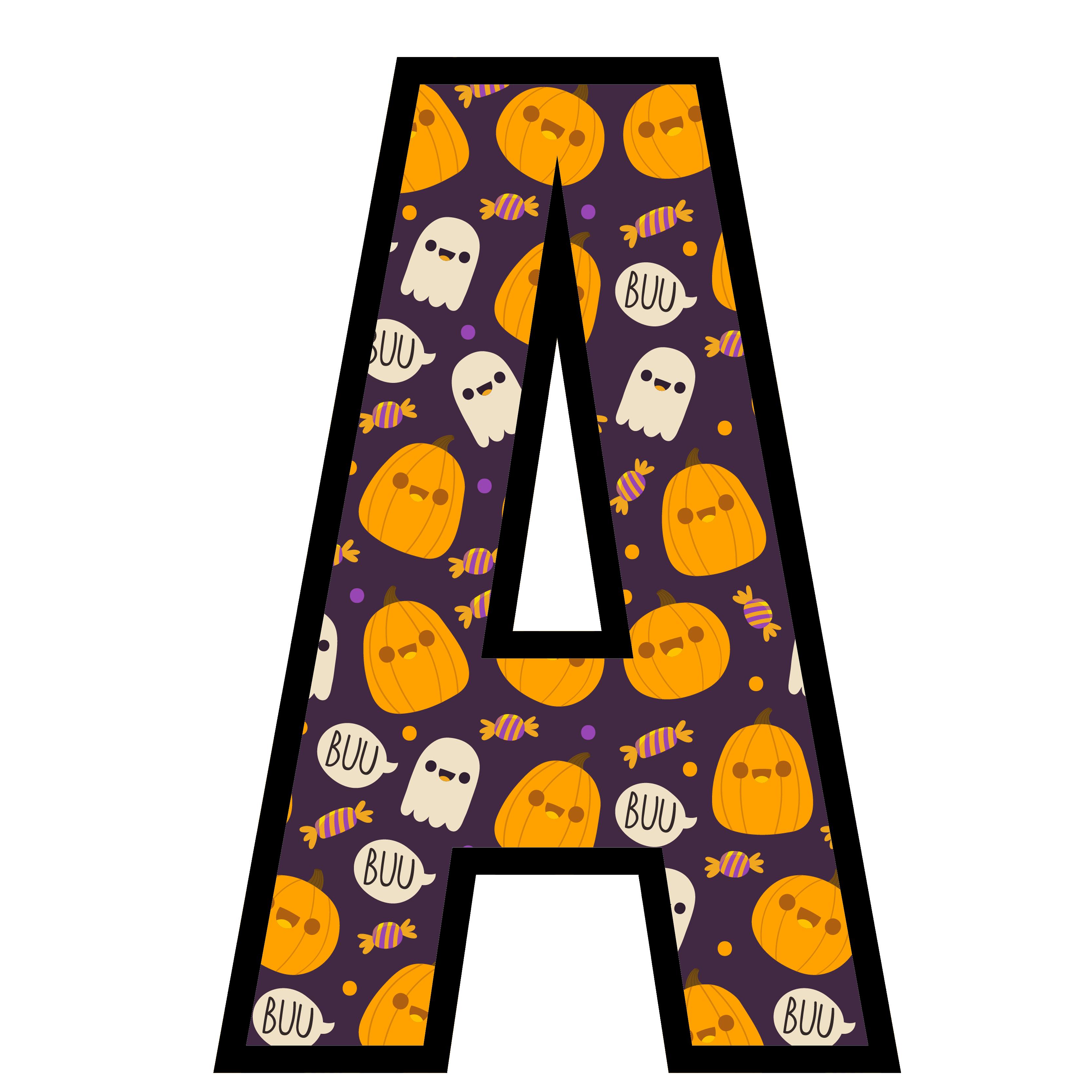 alfabeto personalizado fantasma halloween 1