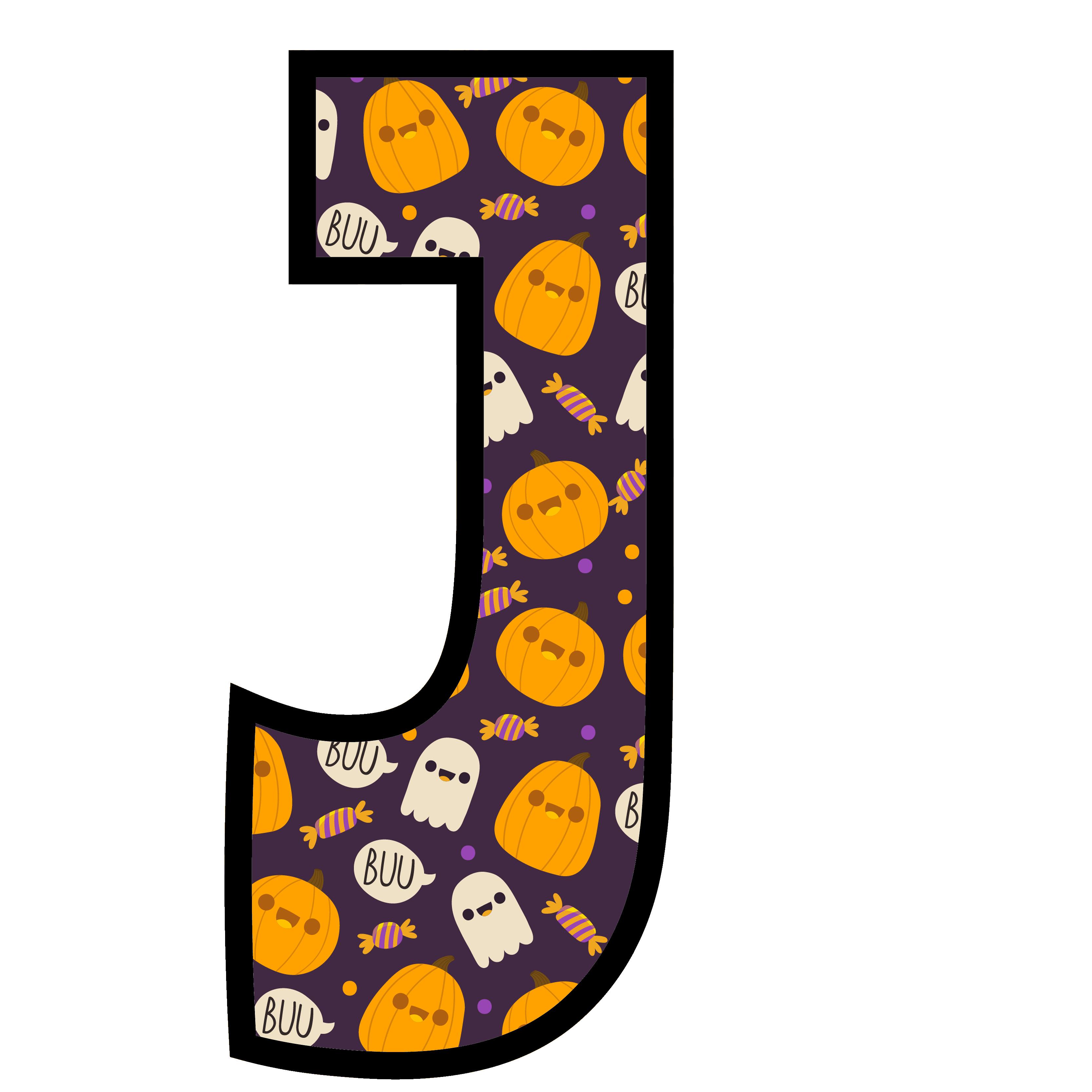 alfabeto personalizado fantasma halloween 10