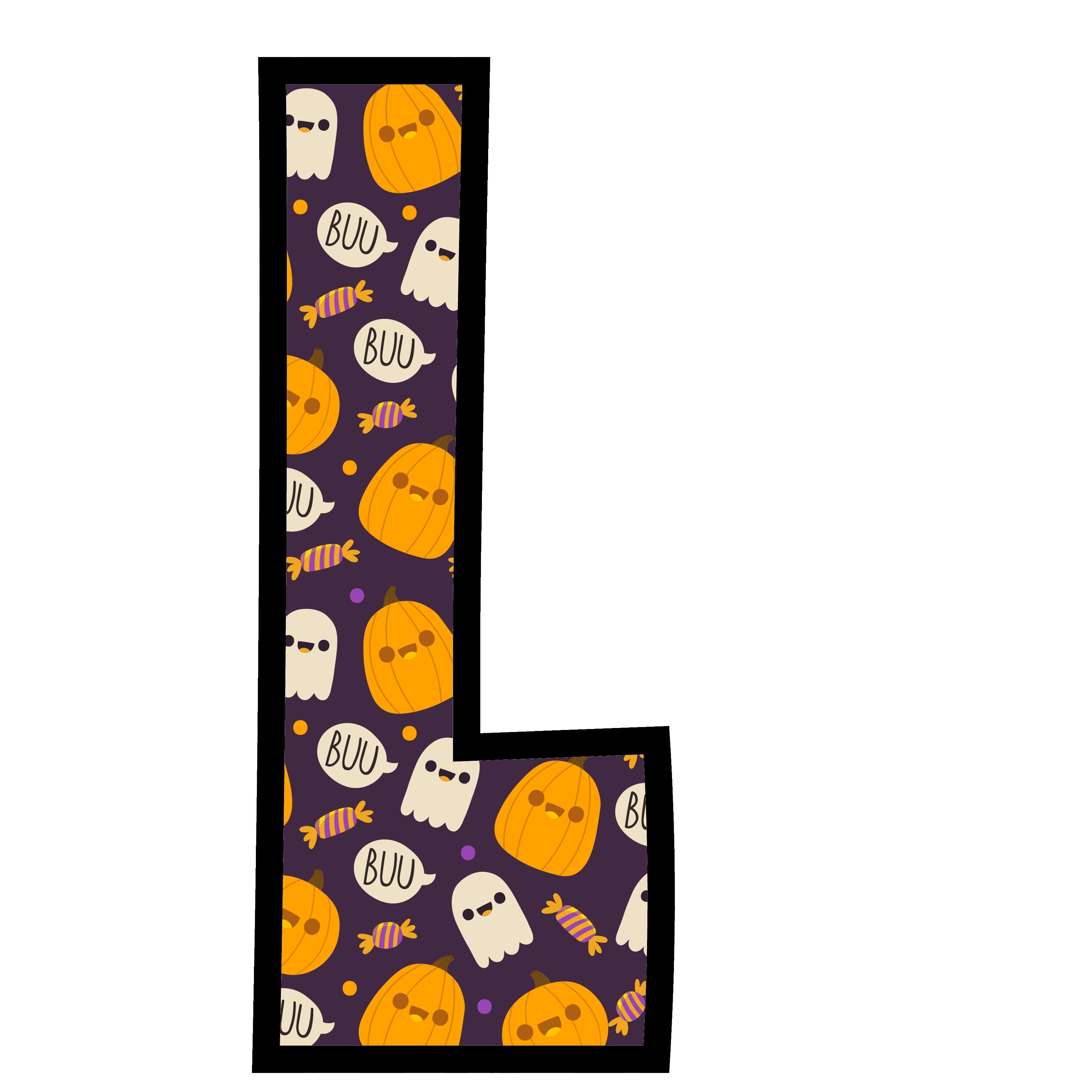 alfabeto personalizado fantasma halloween 12