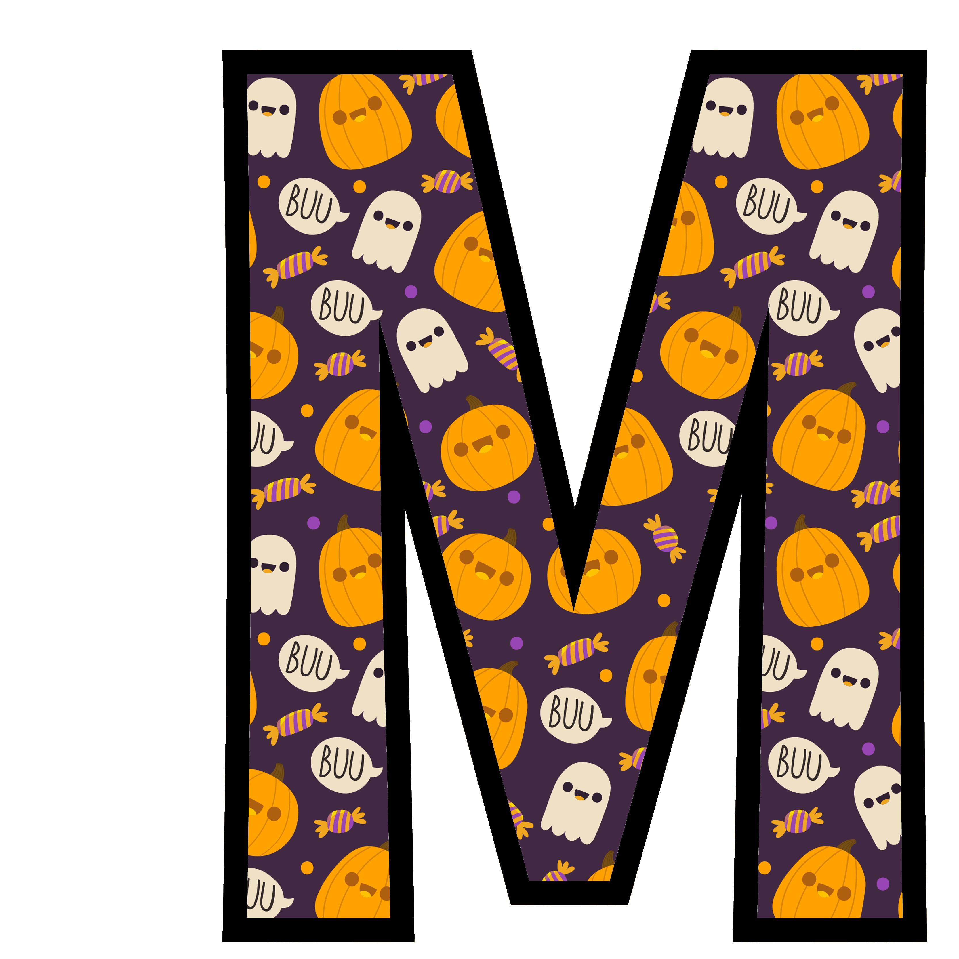 alfabeto personalizado fantasma halloween 13