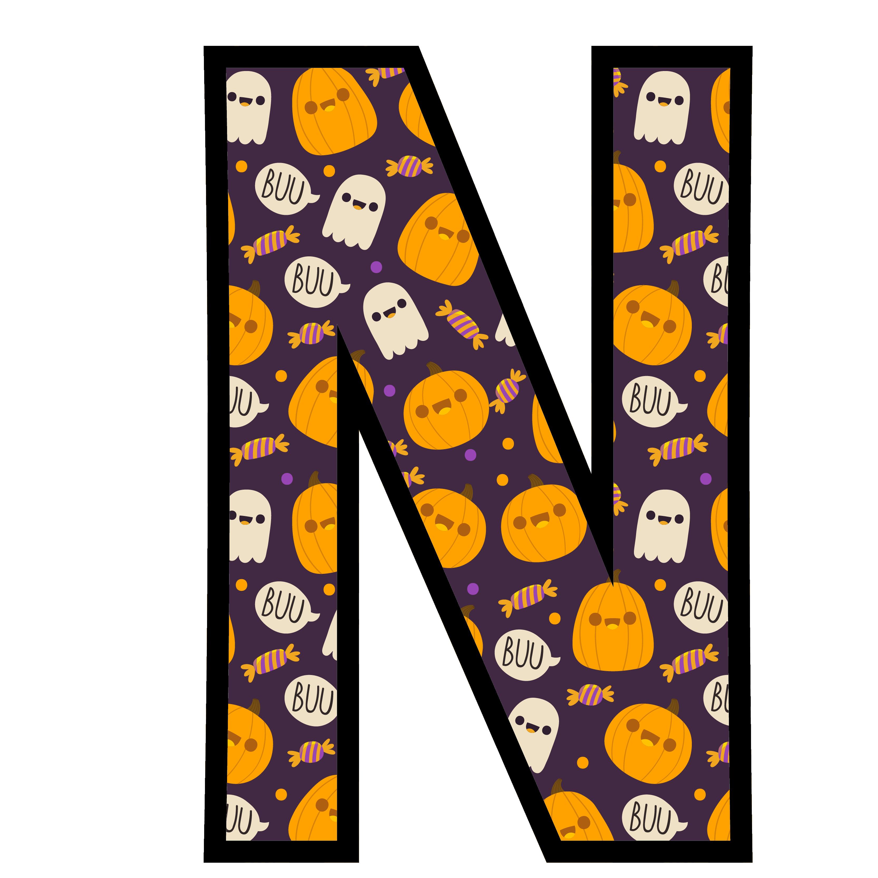 alfabeto personalizado fantasma halloween 14