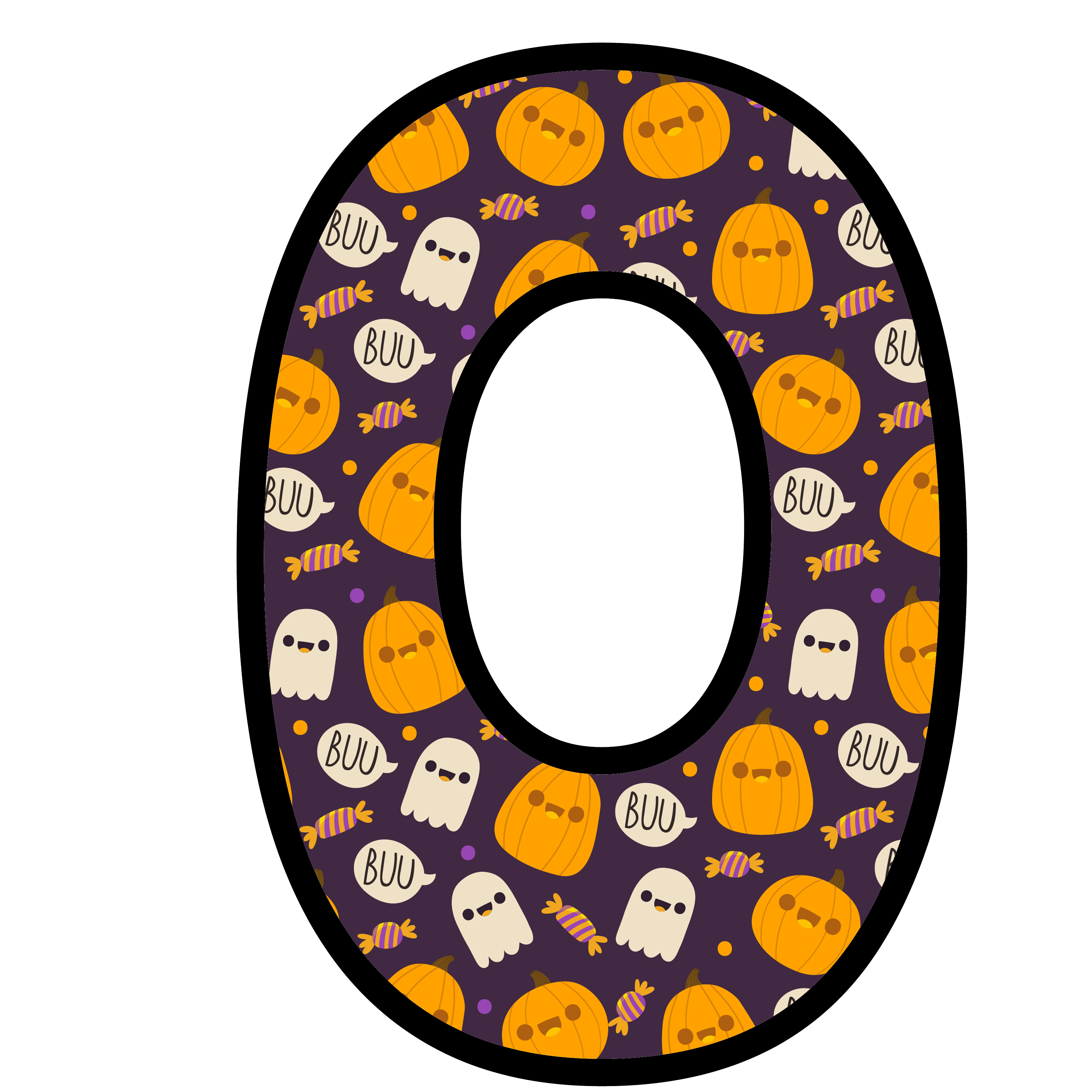 alfabeto personalizado fantasma halloween 15