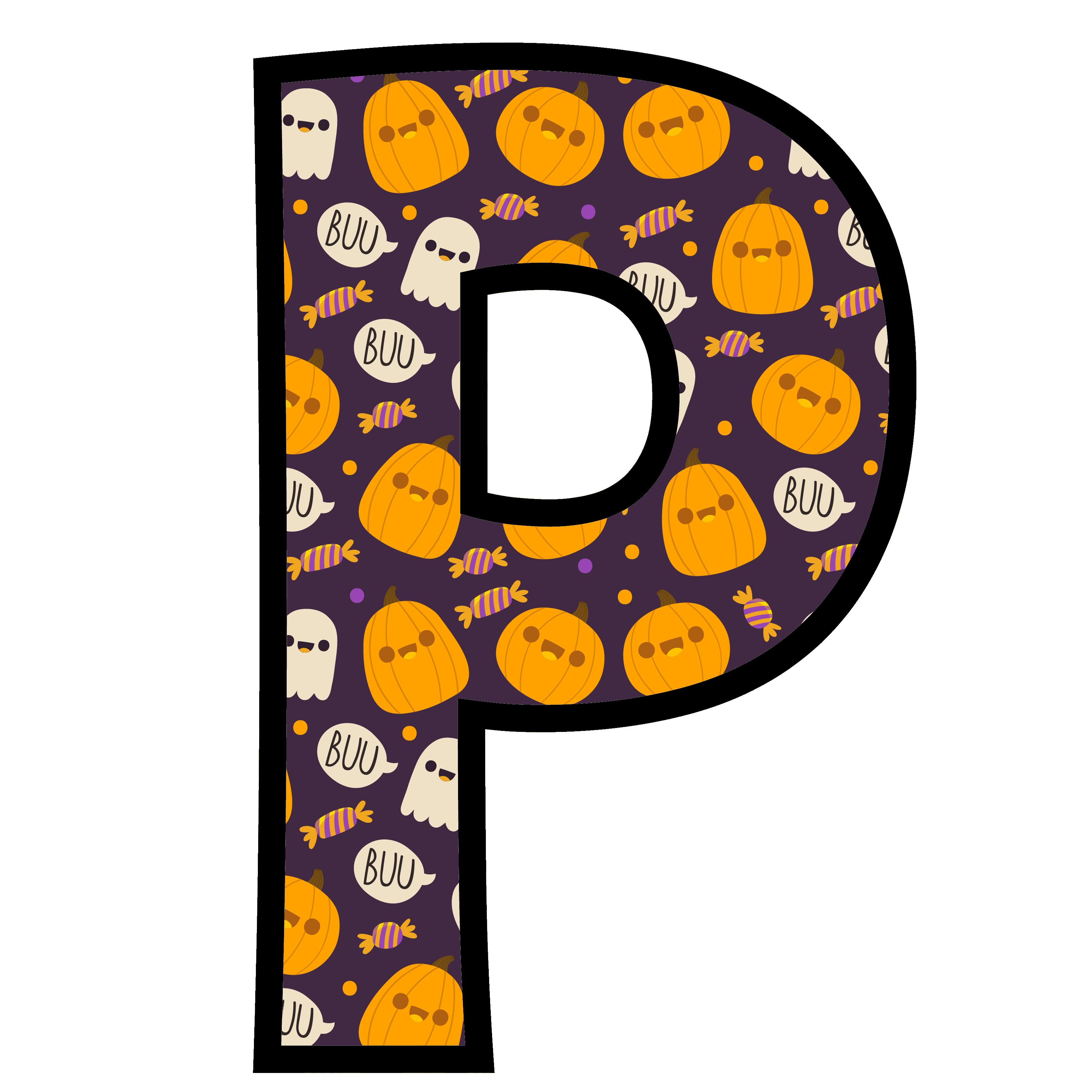 alfabeto personalizado fantasma halloween 16