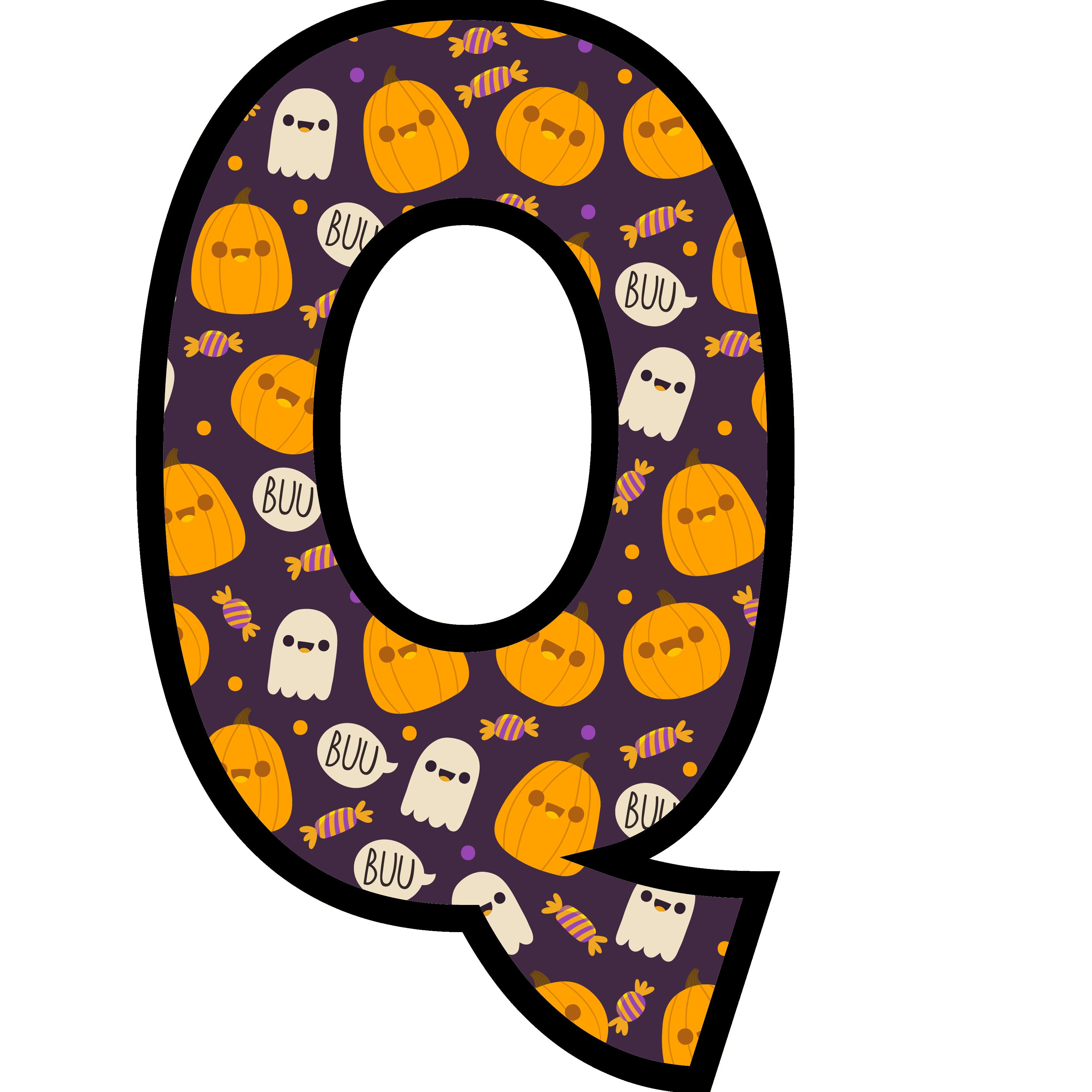 alfabeto personalizado fantasma halloween 17