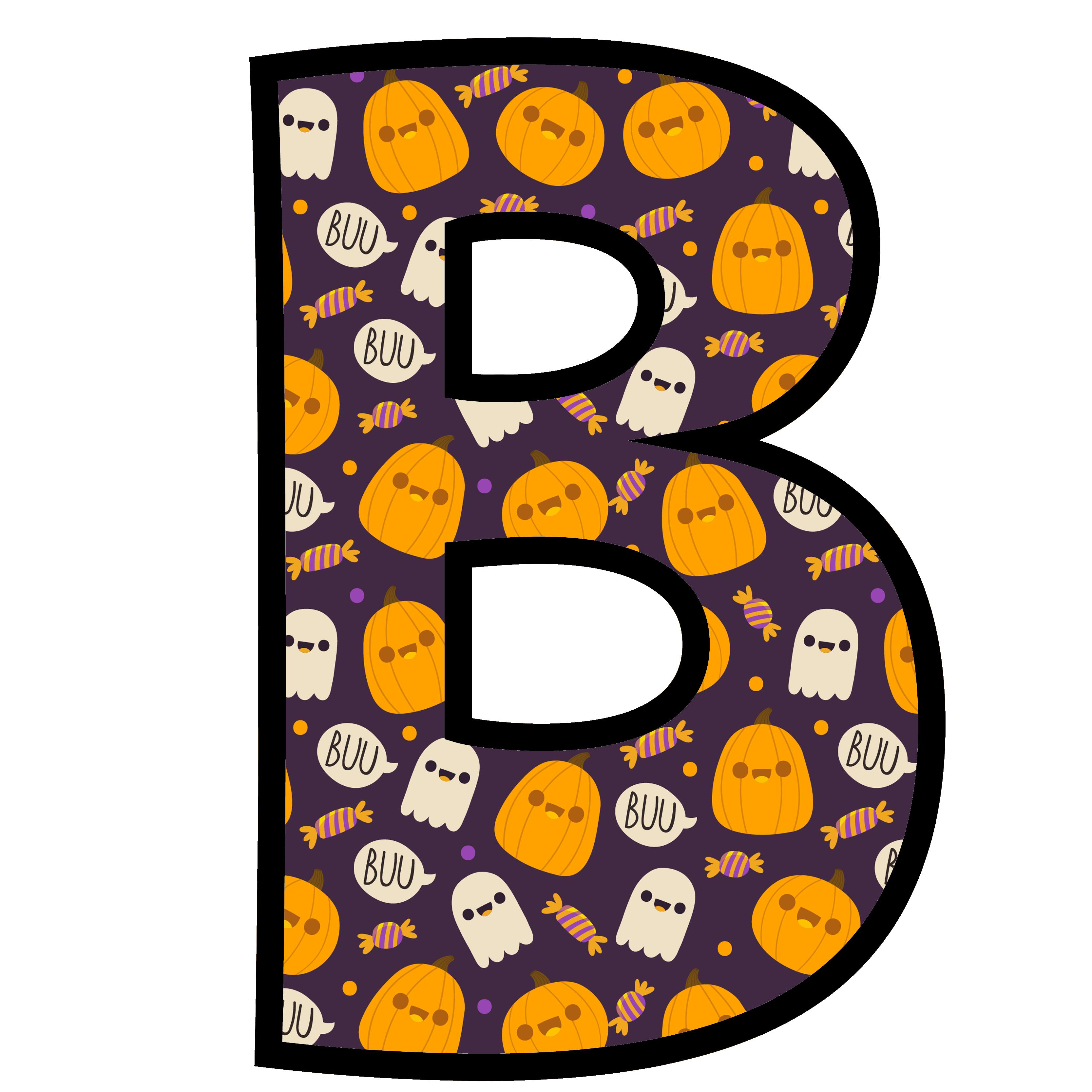 alfabeto personalizado fantasma halloween 2