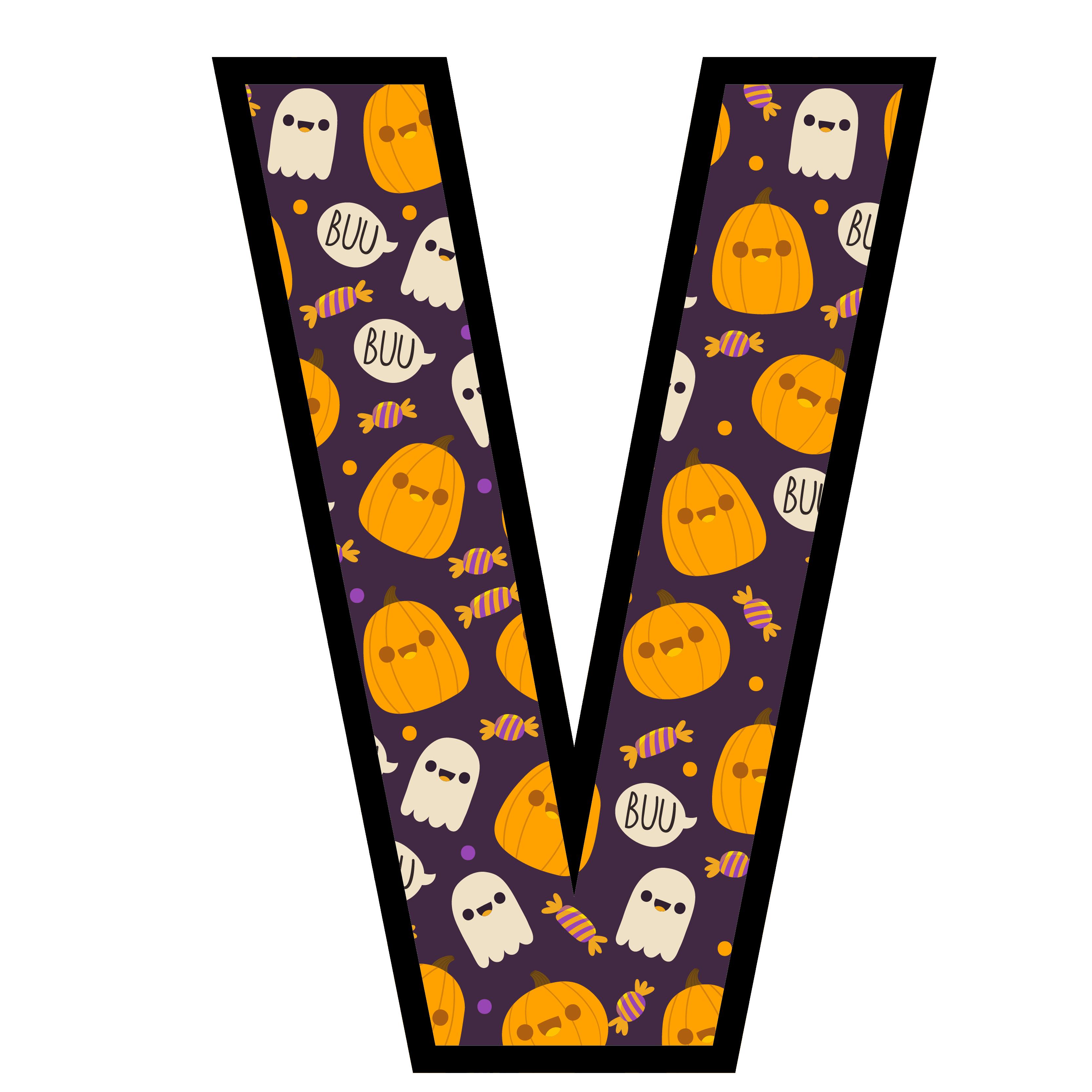 alfabeto personalizado fantasma halloween 22