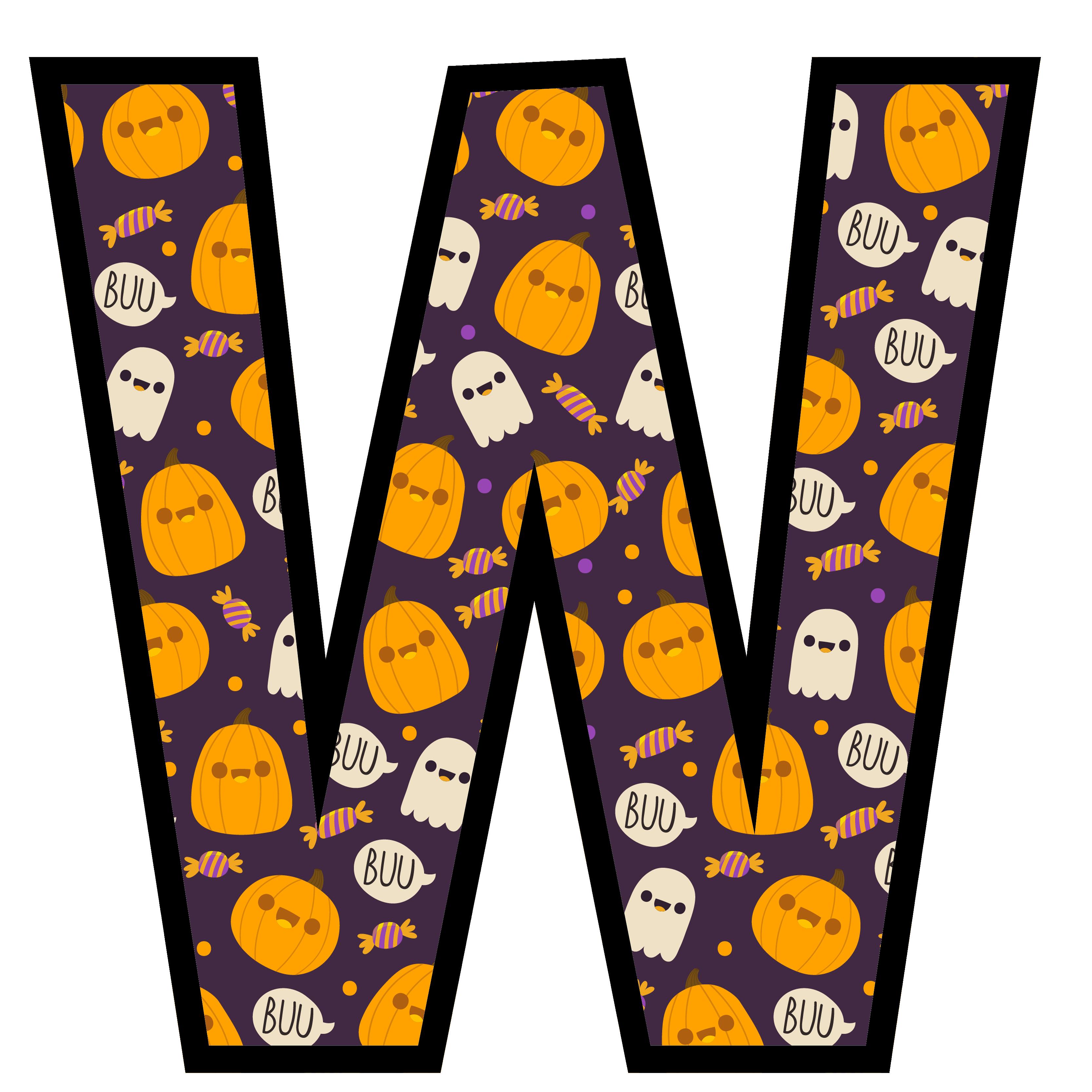 alfabeto personalizado fantasma halloween 23