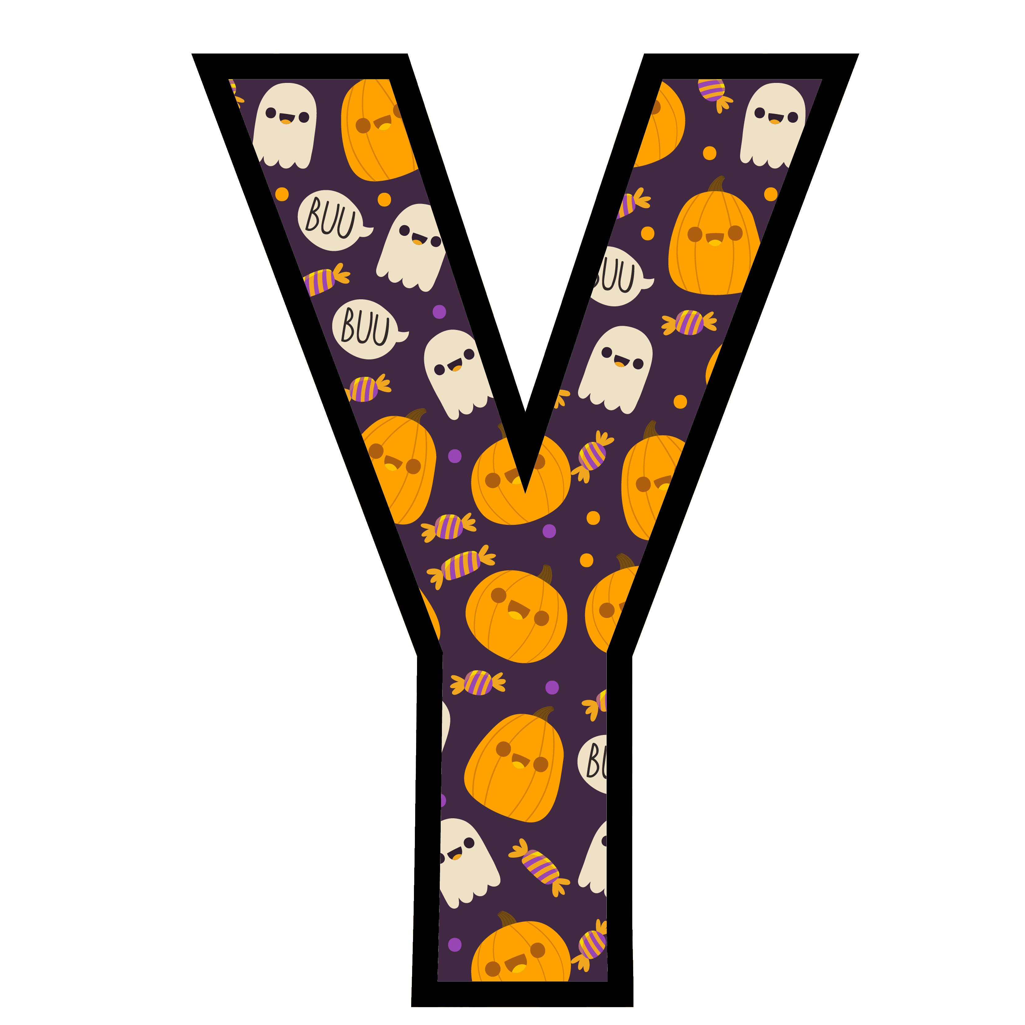 alfabeto personalizado fantasma halloween 25