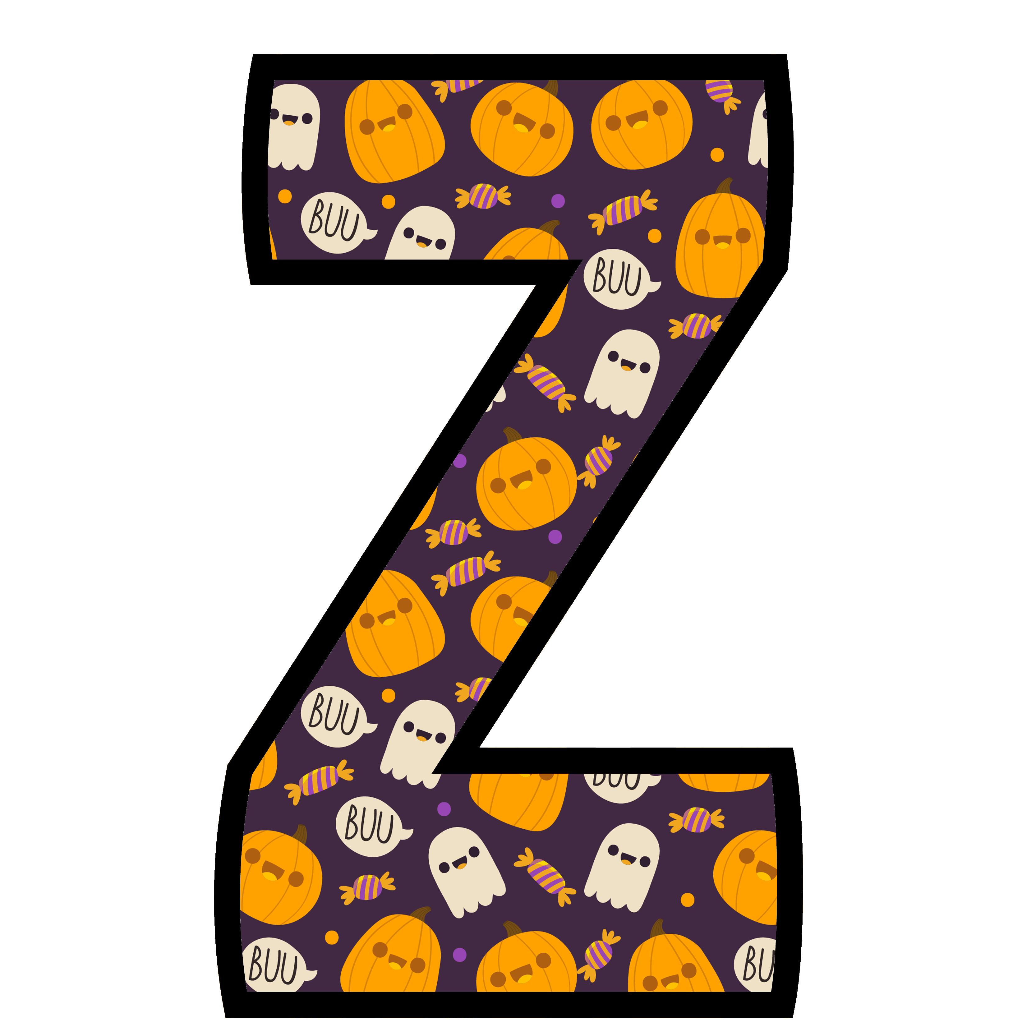 alfabeto personalizado fantasma halloween 26
