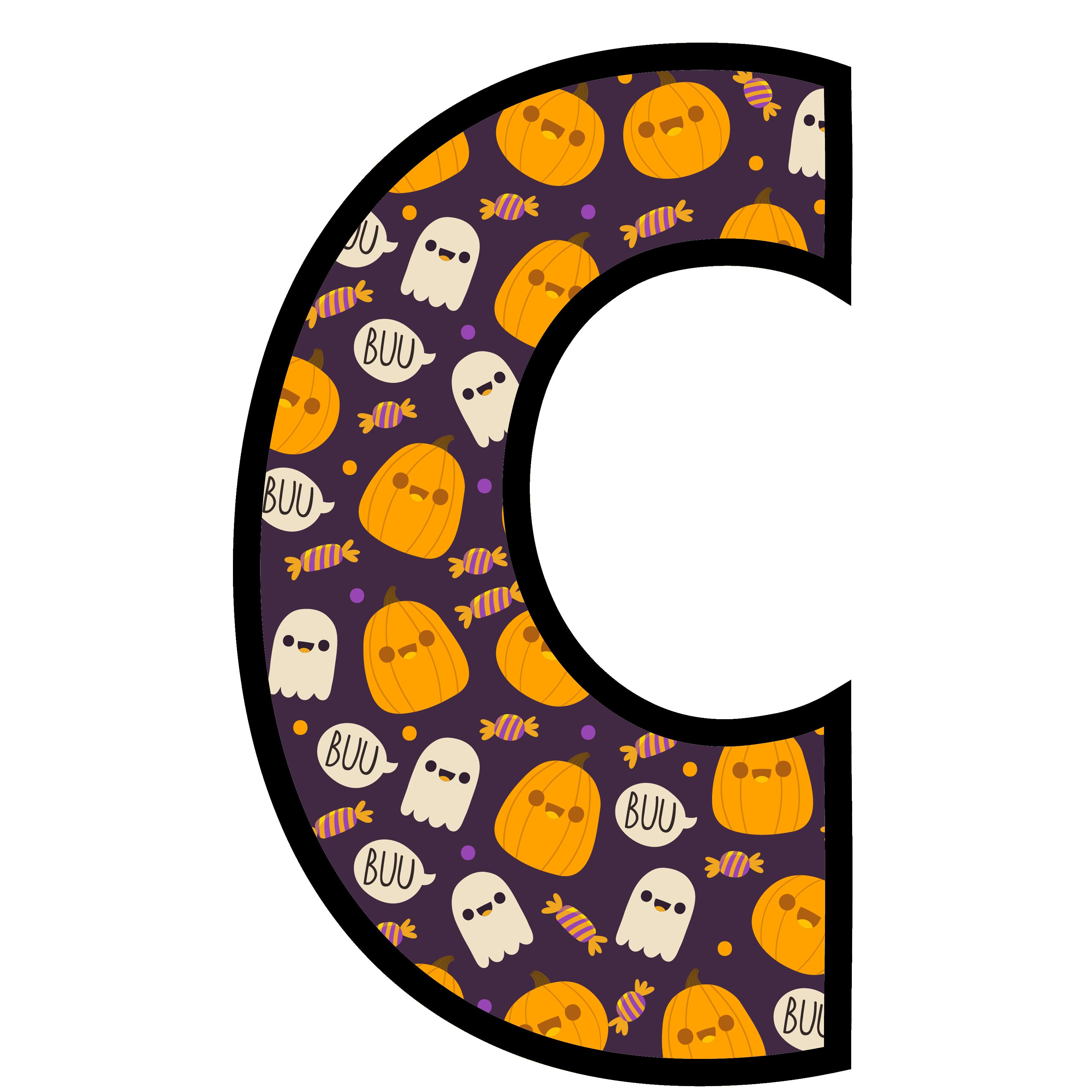 alfabeto personalizado fantasma halloween 3