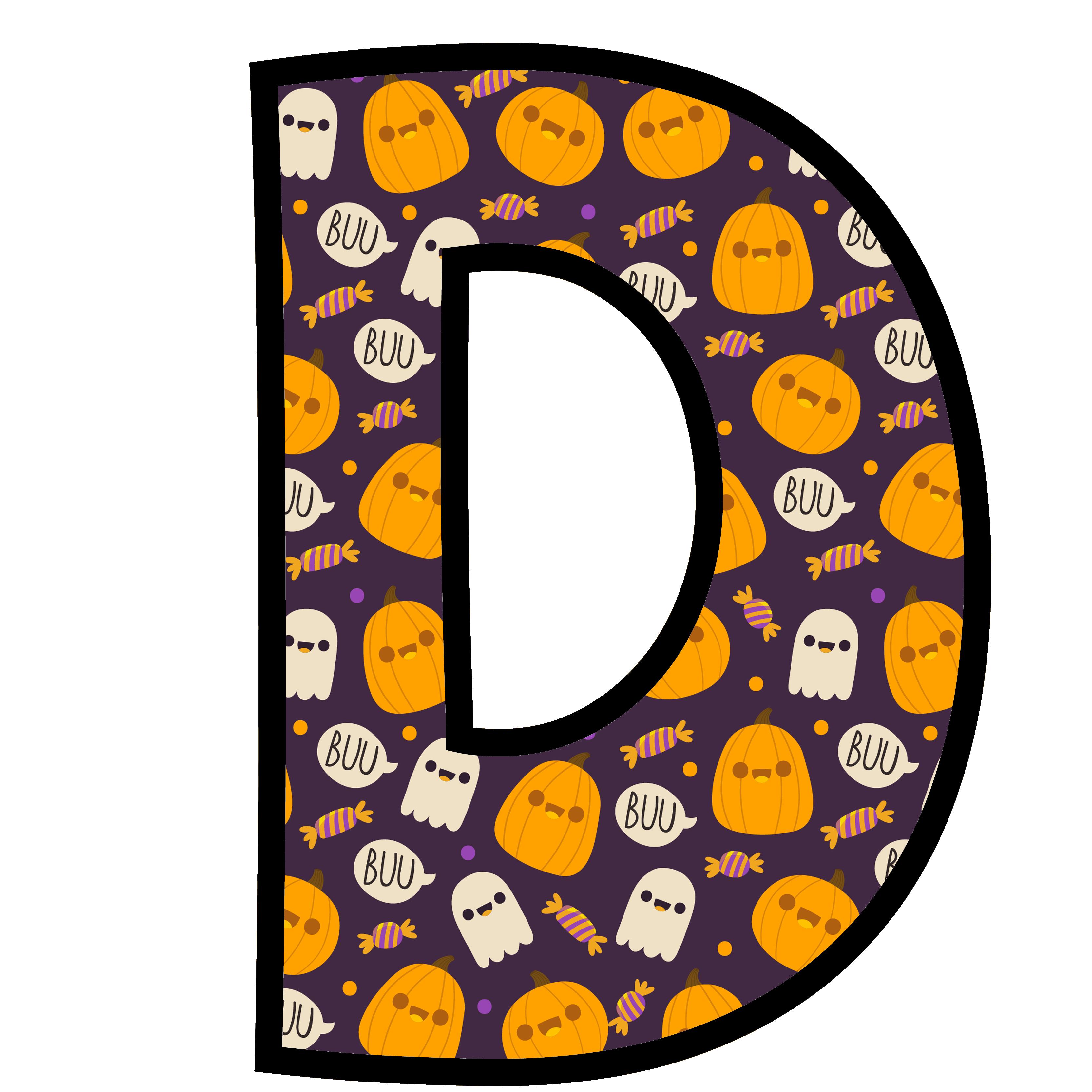 alfabeto personalizado fantasma halloween 4