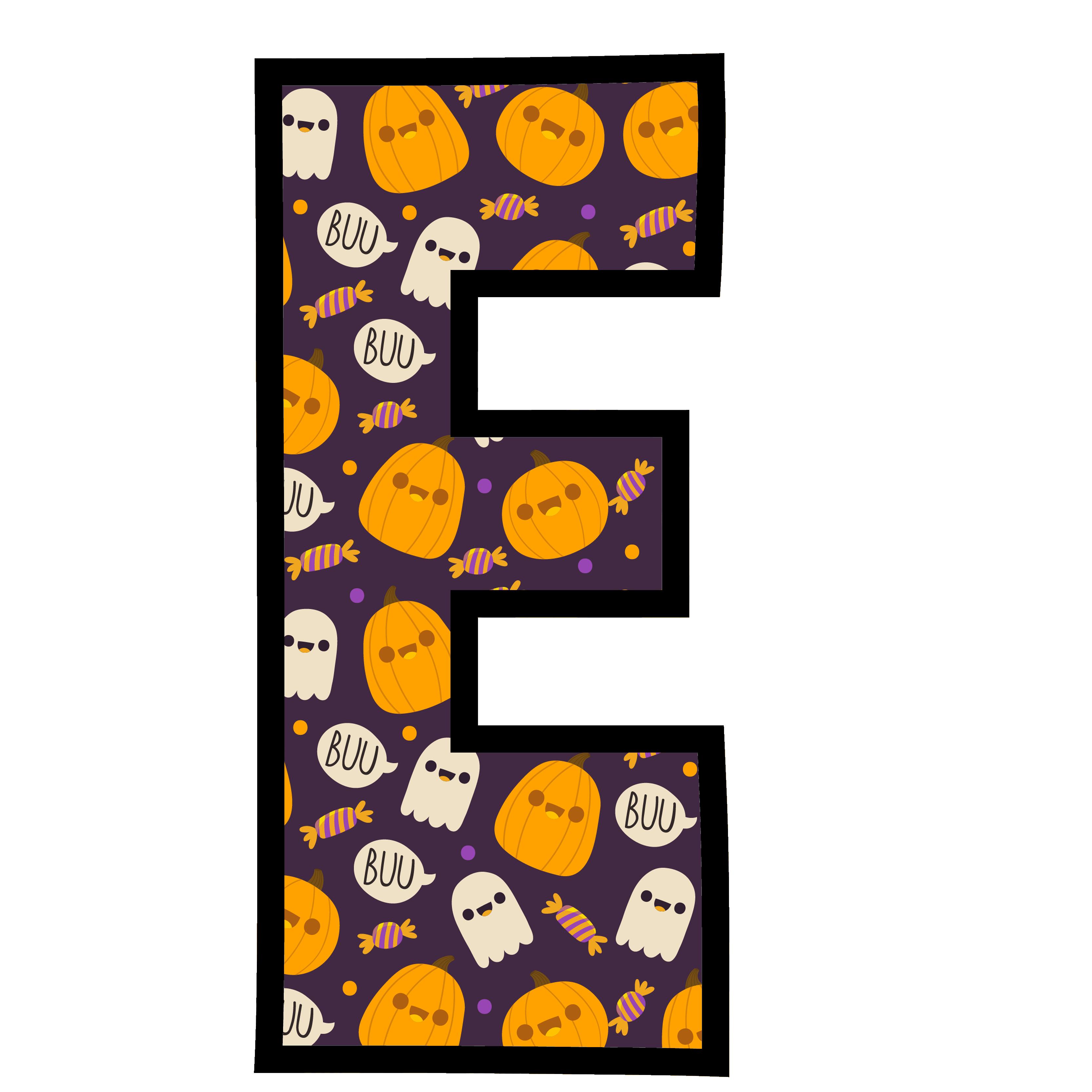 alfabeto personalizado fantasma halloween 5