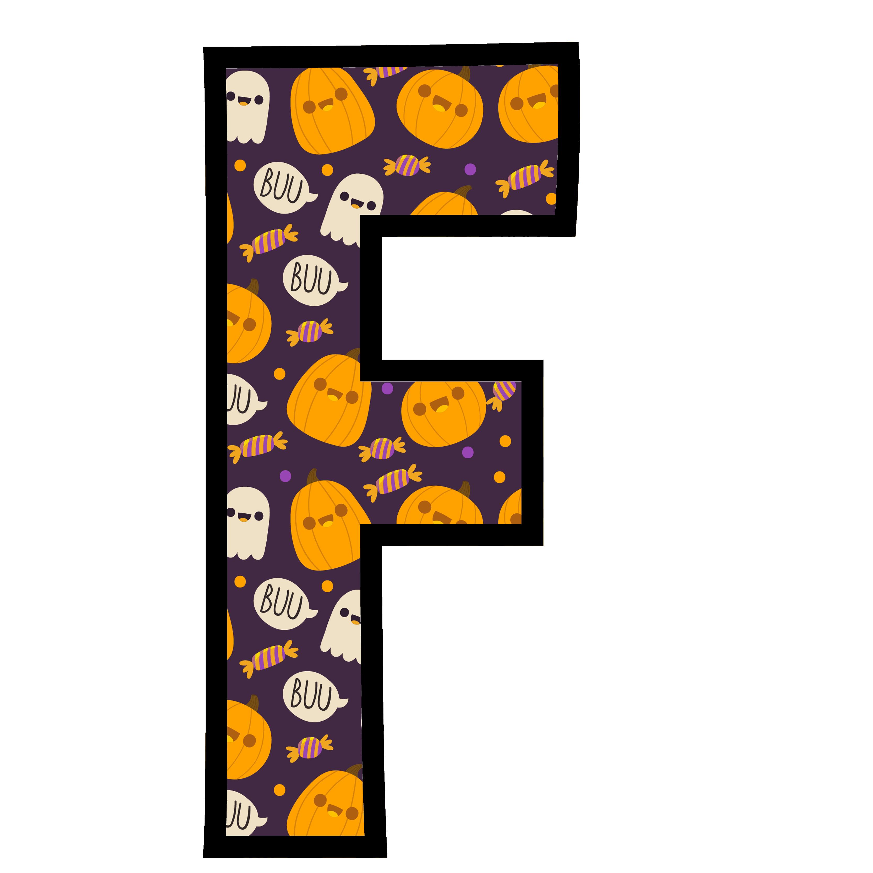 alfabeto personalizado fantasma halloween 6