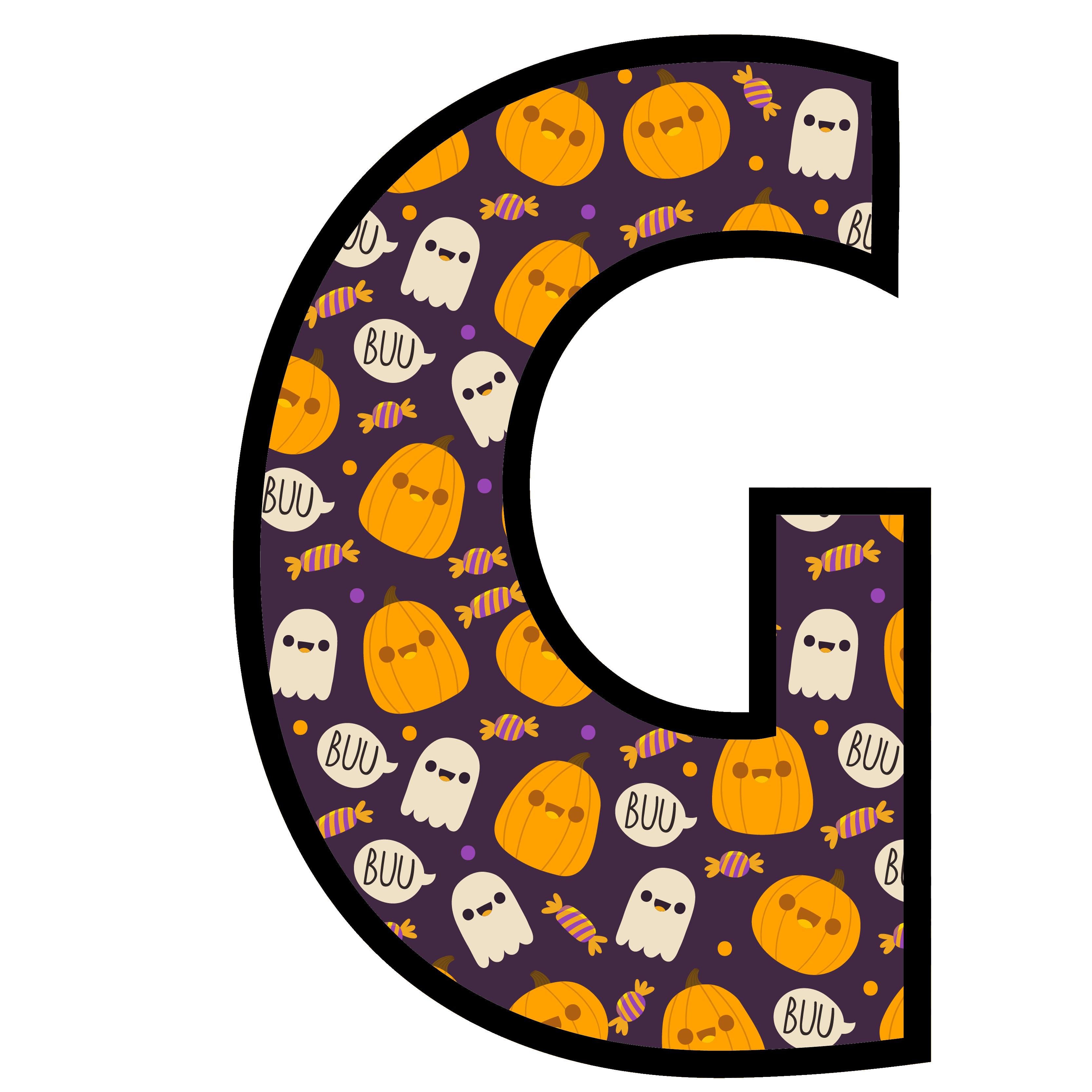 alfabeto personalizado fantasma halloween 7