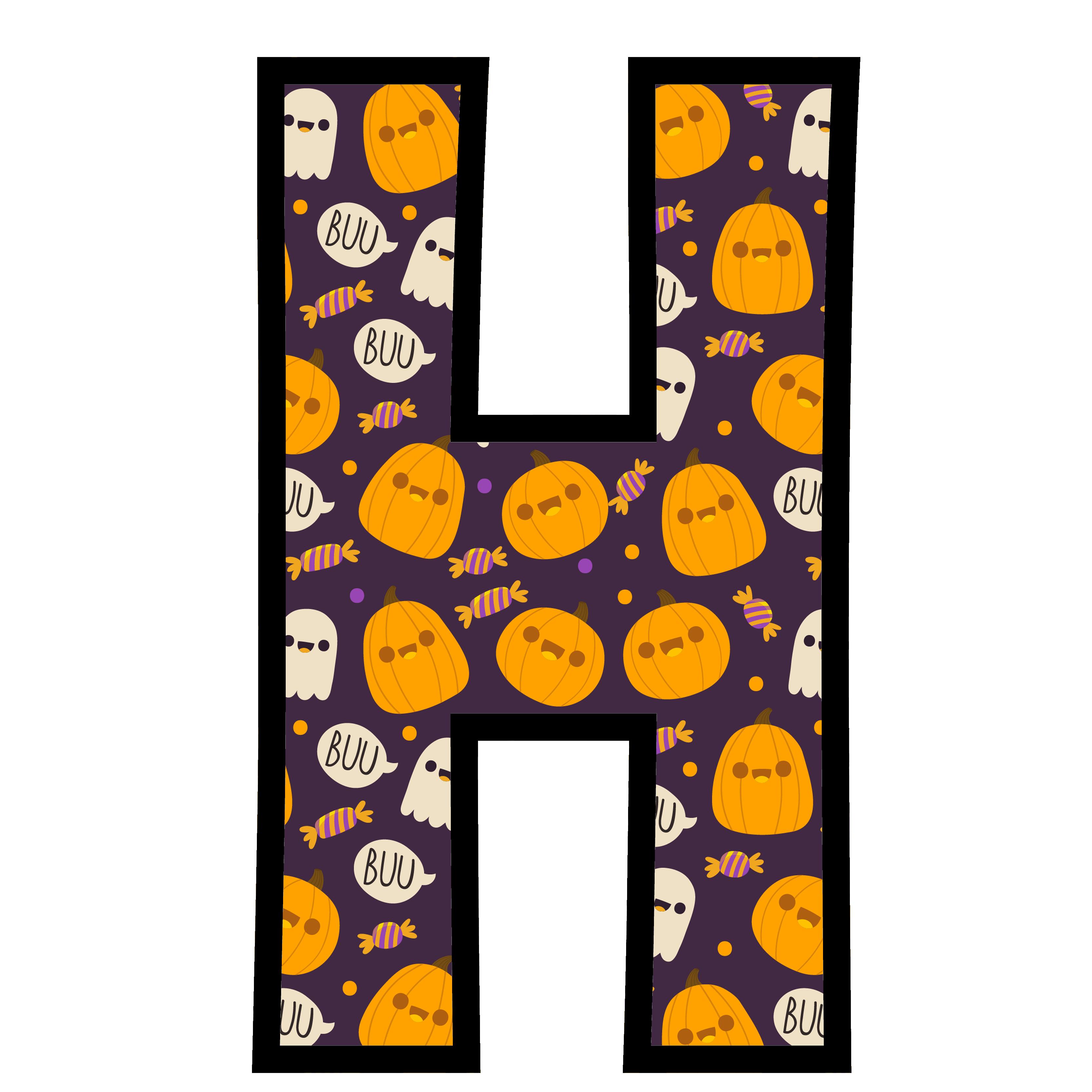 alfabeto personalizado fantasma halloween 8