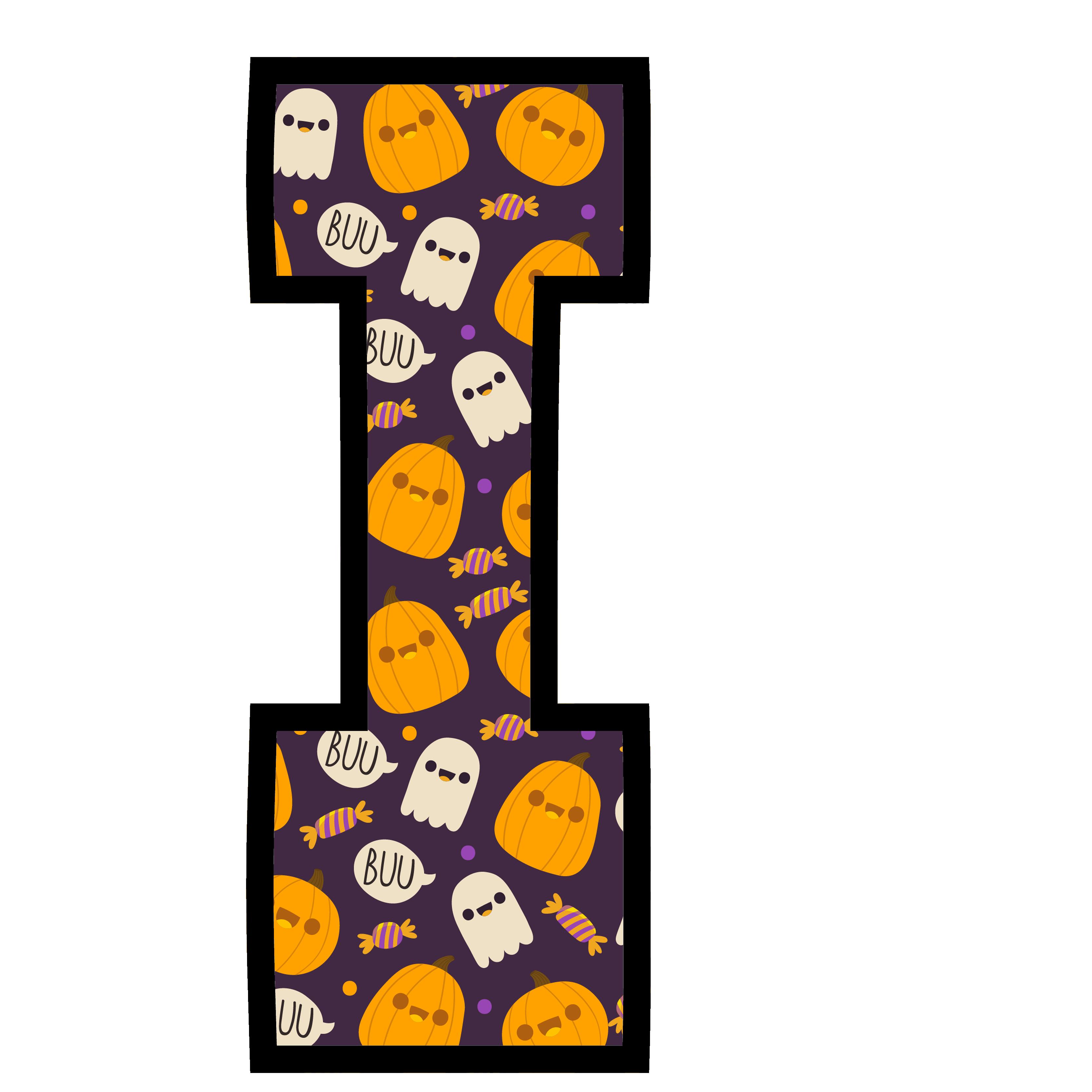 alfabeto personalizado fantasma halloween 9