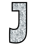 alfabeto personalizado halloween para colorir 10