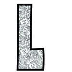 alfabeto personalizado halloween para colorir 12