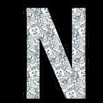 alfabeto personalizado halloween para colorir 14