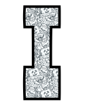 alfabeto personalizado halloween para colorir 9