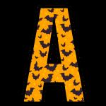 alfabeto personalizado morcegos halloween 1