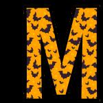 alfabeto personalizado morcegos halloween 13