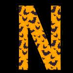 alfabeto personalizado morcegos halloween 14