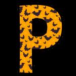 alfabeto personalizado morcegos halloween 16