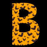 alfabeto personalizado morcegos halloween 2