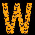 alfabeto personalizado morcegos halloween 23
